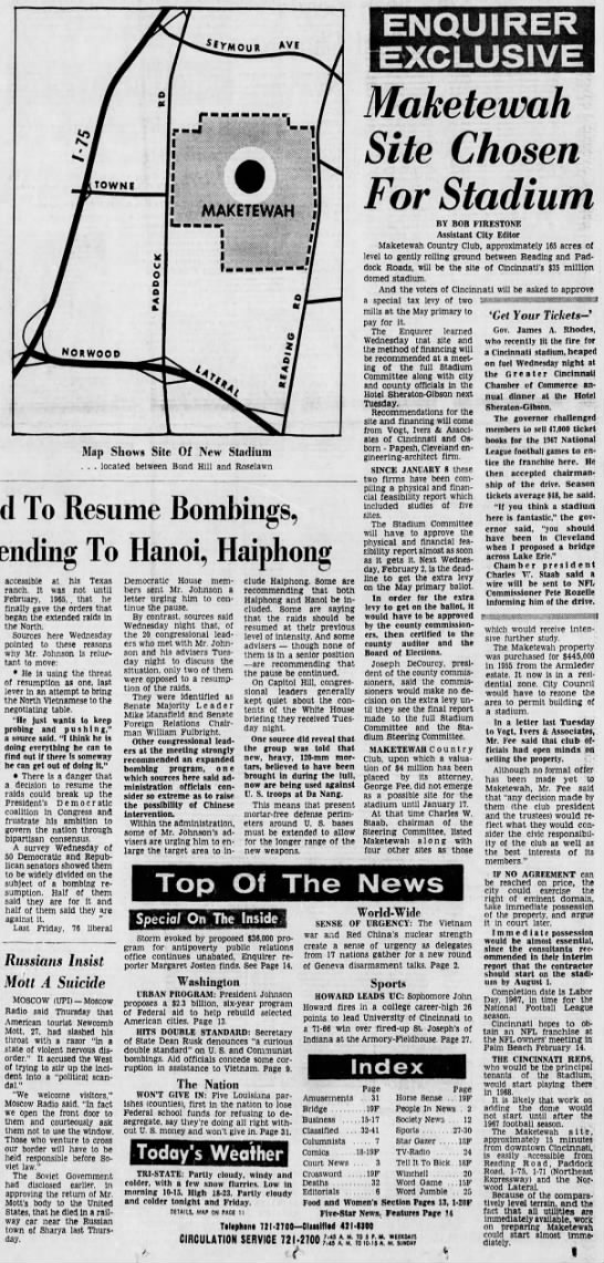 Stadium Site 012766 - To Resume Bombings, To Hanoi, Haiphong...
