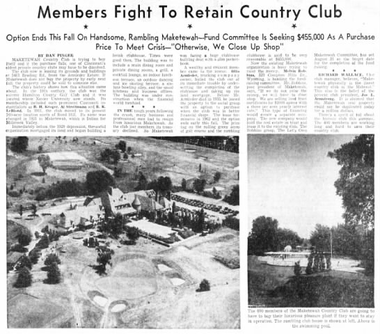 Fight to retain the club 073155 - Members Fight To Retain Country Club Option...