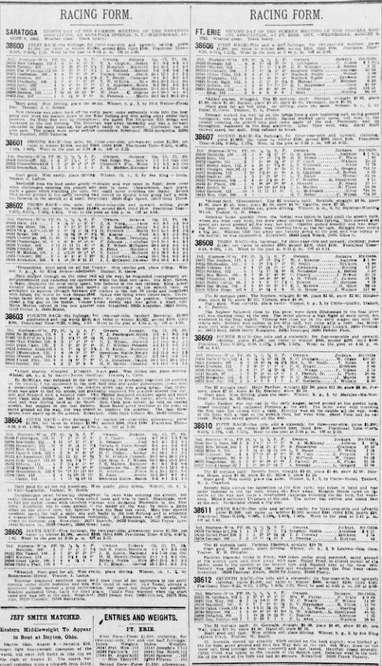 Racing Form, 19220810, Cincinnati Enquirer - RACING FORM. CADKTAM nmiTii mver tiik srvmi'n...