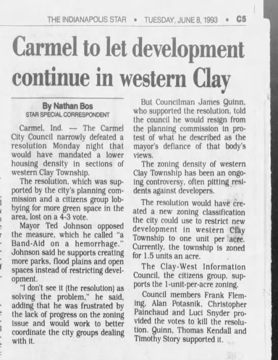 Ted Johnson, West Clay, Jun 8, 1993