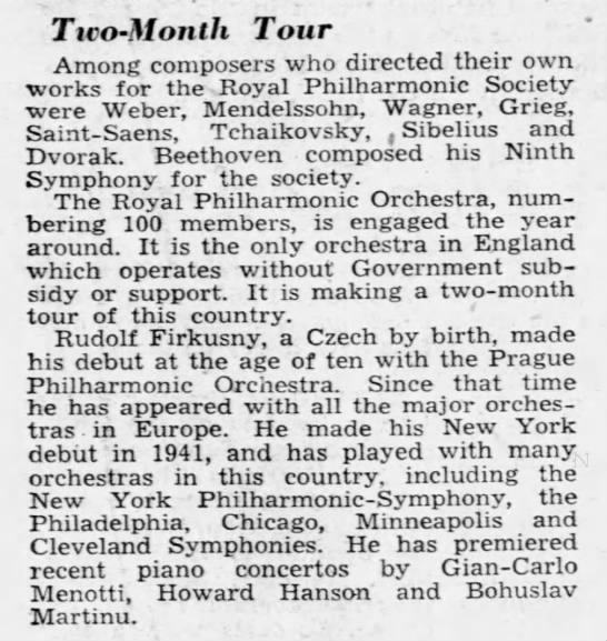 Two-month tour 05/11/1950