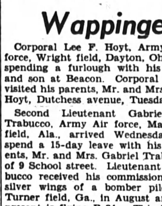 Nov. 1944  Corporal  Lee F. Hoyt is on a furlough with his son. - Wappingers Corporal Lee P Hoyt, Army force,...