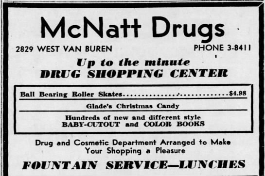 Newspaper++Publisher Extra Arizona Republic(Phoenix, Arizona) Friday, Dec. 13, 1946  Page 11 - McNatt Drugs 2829 WEST VAN BUREN PHONE 3-8411...