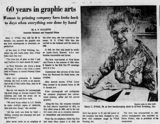 - 60 years in graphic arts Woman in printing...