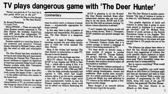 TV_plays_dangerous_game_with_The_Deer_Hunter - TV plays dangerous game with 'The Deer Hunter'...