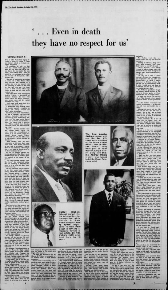 Palm Beach Post 10-26-1980 Black History 2 - r.r.,.r,, C4-The C4-The C4-The Post, Sunday....
