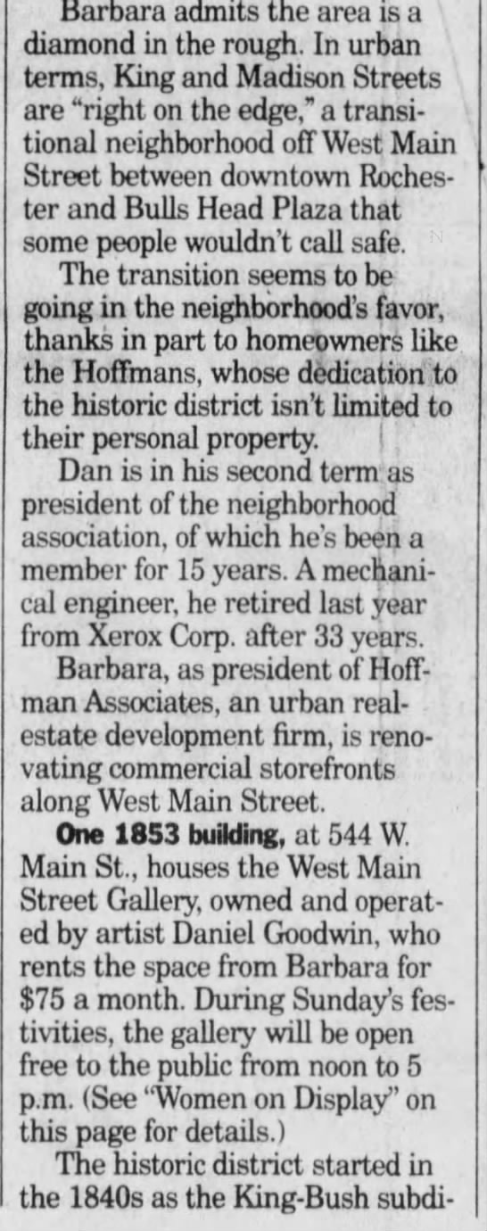 Fox Sisters Spirits, Democrat and Chronicle (Rochester, NY) 24 Aug 1995 Thu P27 - Barbara admits the area is a diamond in the...