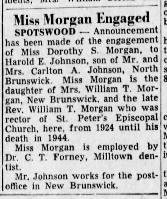 - Miss Morcan Engaged SPOTSWOOD Announcement has...