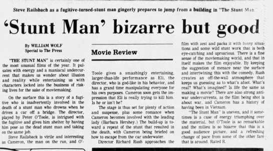 Stunt_Man_bizarre_but_good - Steve Railsbach as a fugitive-turned-stunt...