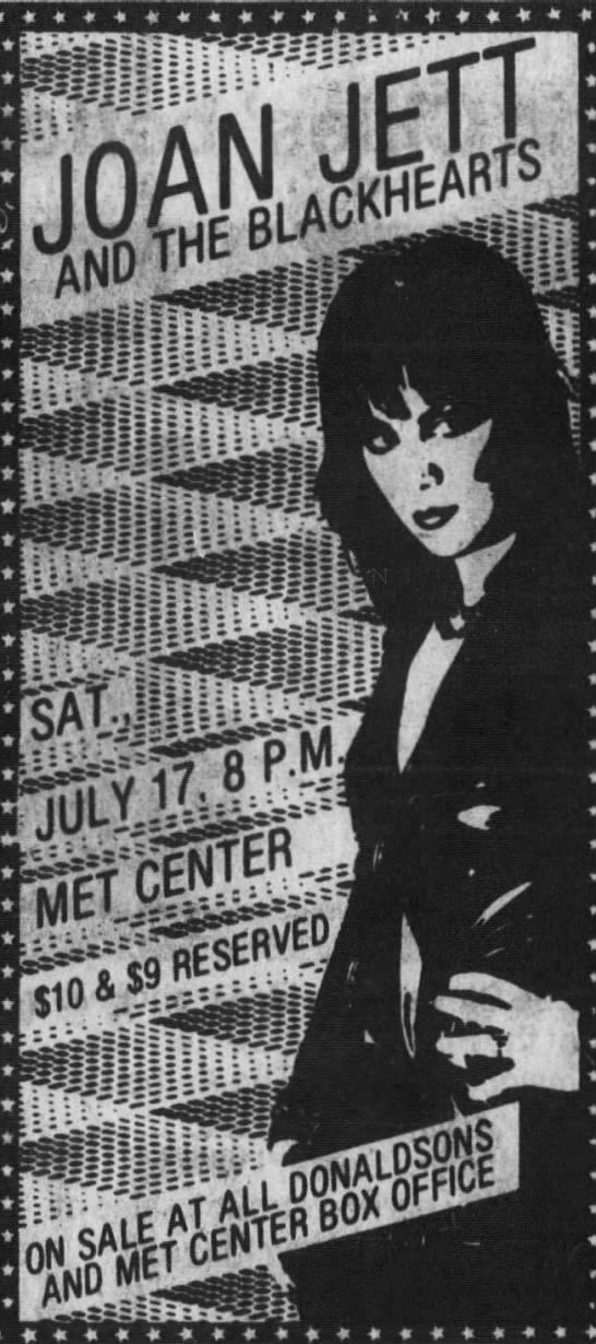 Joan Jett - July 17, 1982 - t I msmmm f