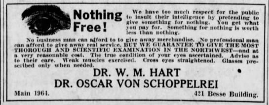 Oscar Schoppelrei Optician Ad