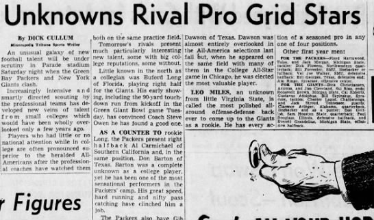 Dick Flowers - Unknowns Rival Pro Grid Stars By DICK CL'LLUM...