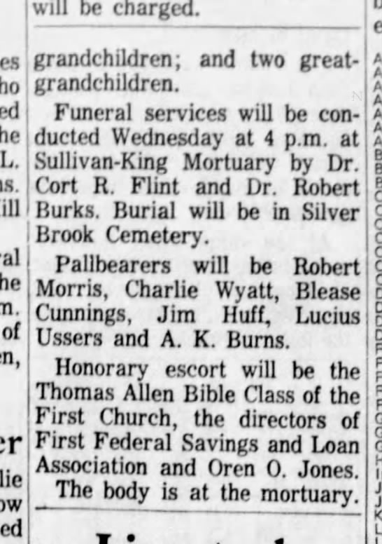 Greenville News 23 Oct 1963 (2) - L. of will be charged. grandchildren; and two...
