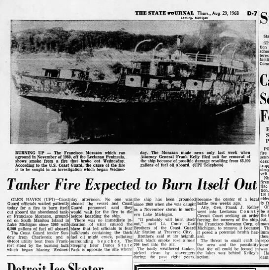 Morazon Fire aug 1968 - THE STATE MURNAL Thurs., Aug. 29, 1968 D-7 D-7...