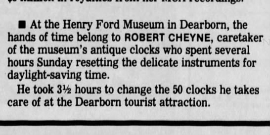 Uncle Bob (Robert Cheyne, b. 1931)   The Times Herald (Port Huron, MI)