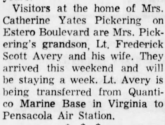 - Visitors at the home of Mrs. Catherine Yates...