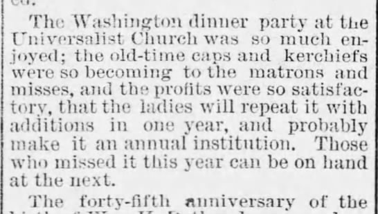 1883.02.28 SCB p4 - The Washington dinner party at the Universalist...