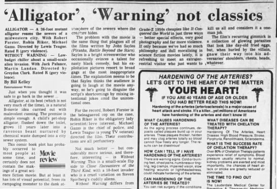 Alligator,_Warning_not_classics - 'Alligator', 'Warning' not classics ALLIGATOR A...