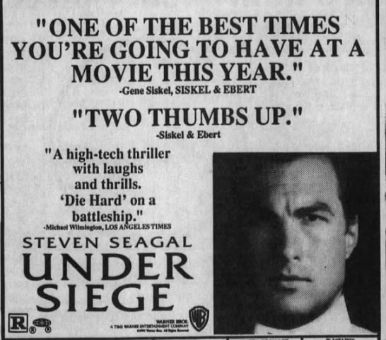 """Under_Siege_Poster - """"ONE OF THE BEST TIMES YOU'RE GOING TO HAVE AT..."""