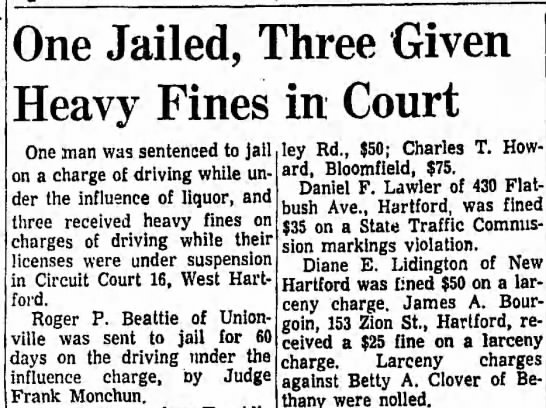 Roger Beattie - Police - One Jailed, Three Given Heavy Fines in Court...