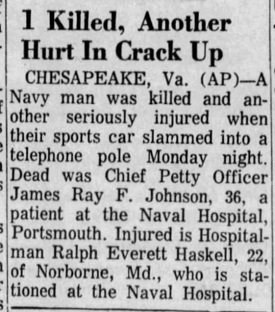 Ralph Everett Haskell 30 Jan 1964 The Montgomery Advertiser Montgomery, Alabama
