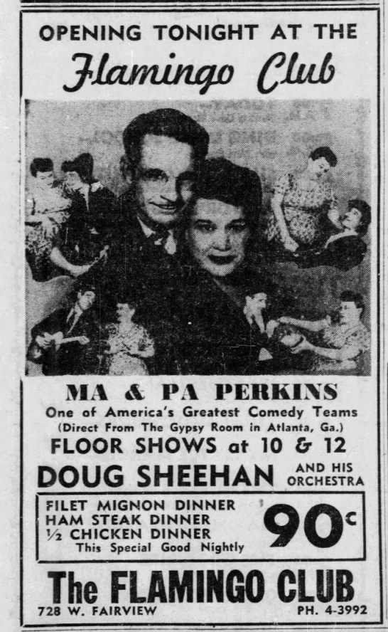Zeb & Mandy Montgomery Advertiser Montgomery AL 30 Jan 1956 - OPENING TONIGHT AT THE it 5 ' it' -A -A a-5 a-5...