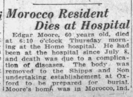 - i Morocco Resident Dies at Hospital Edgar...