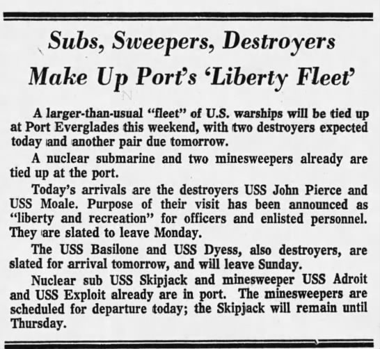 - v Subs, Sweepers, Destroyers Make Up Port's...
