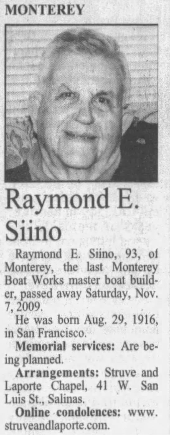 Grandpa's obituary notice