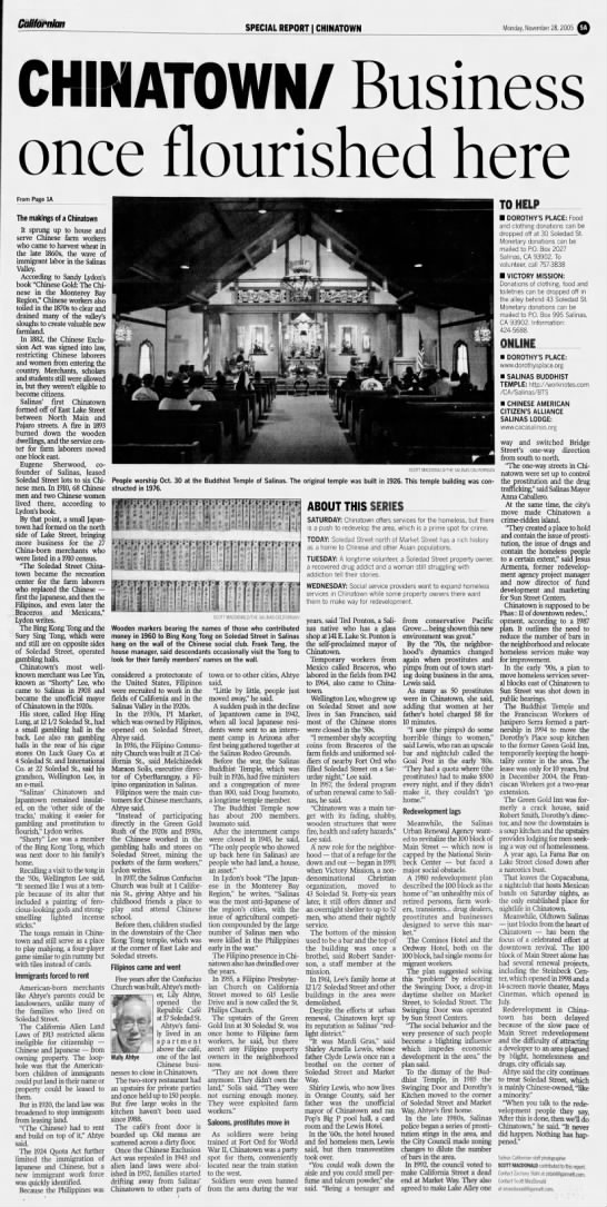 Special Report - Chinatown pg 2 - Californian SPECIAL REPORT CHINATOWN Monday,...