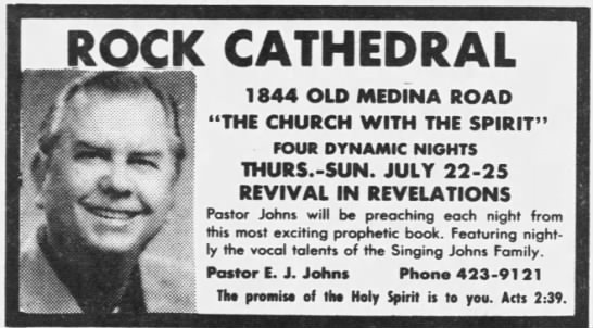 "- ROCK CATHEDRAL 1844 OLD MEDINA ROAD ""THE CHURCH..."