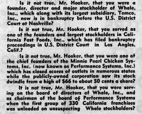 Hooker QA - 1970 - Is it not true, Mr. Hooker, that you were a...