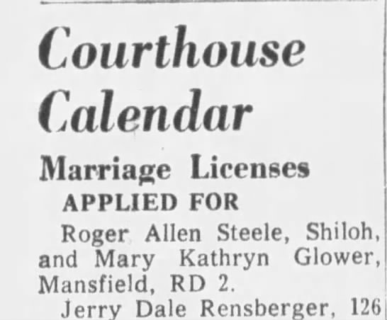 marriage - Courthouse Calendar Marriage Licenses APPLIED...