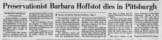 Preservationist Barbara Hoffstot dies in Pittsburgh - Preservationist Barbara Hoffstot dies in...