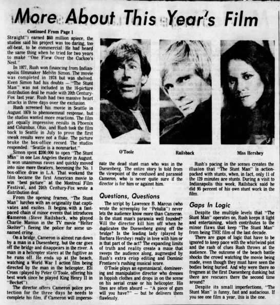 More_About_This_Years_Film_Stunt_Man_Contd - MoreAboutiThis Xepr!s Film - Continued From...