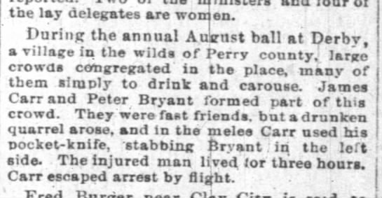 Peter Bryant Stabbing August Ball at Derby - the lay delegates are women. During the annual...