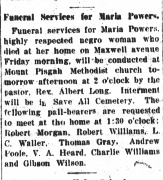 Maria Powers Funeral Services - Fanrral SeiSlces lor Maria Fewer. Funeral...