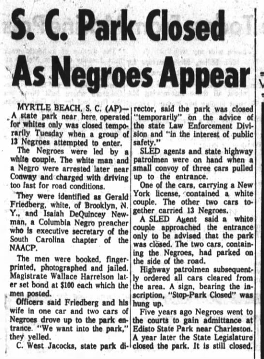 Greenwood Index-Journal Aug 31, 1960 p.1 - i; C; Part Closed As Megt'oas Appear MYRTLE...