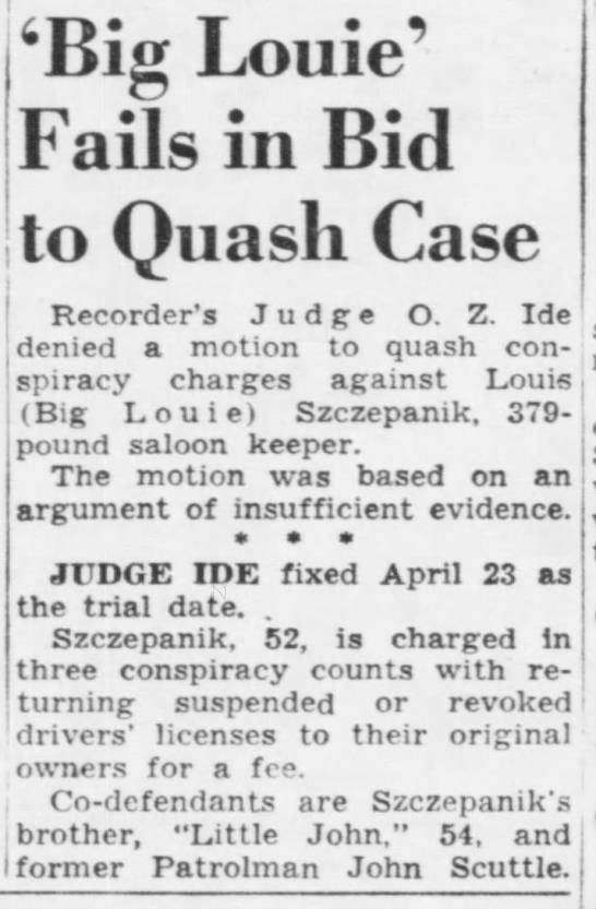Big Louie Fails in Bid to Quash Case - , i 6Big Louie' Fails in Bid to Quash Case...