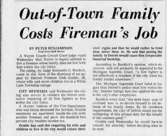 1971 - residency  battle - Out-of-Town Out-of-Town Out-of-Town Out-of-Town...