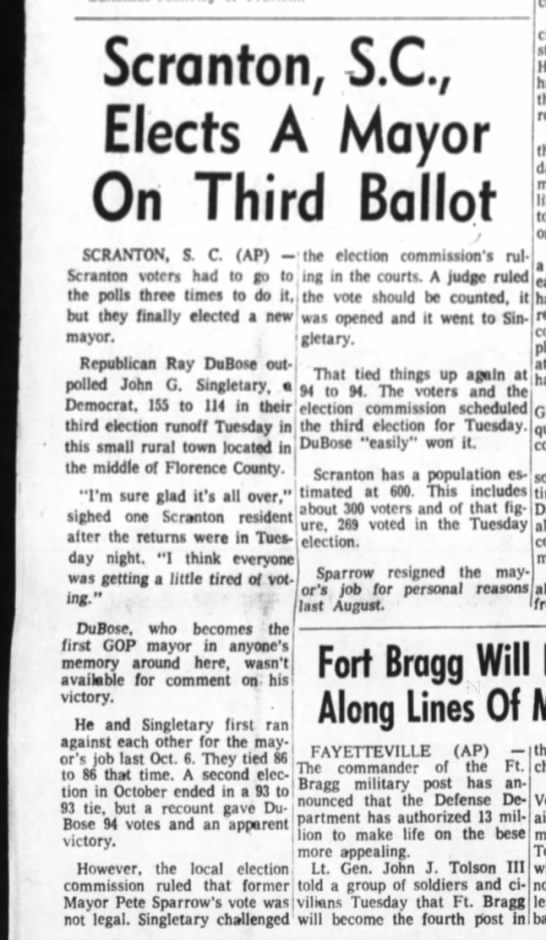 The index journal   feb 10 1971  election mayor dubose -