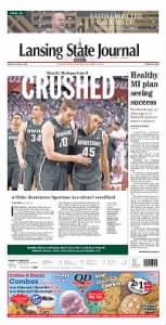 Sample Lansing State Journal front page