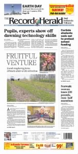 Sample The Record-Herald and Indianola Tribune front page
