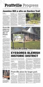 Sample The Prattville Progress front page