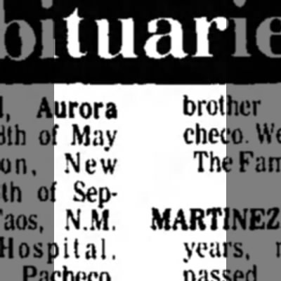 Aurora's Obit - May New September, N.M. Pacheco. The years,