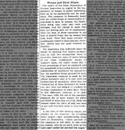 Women and their wages--Part 1, May 13, 1906