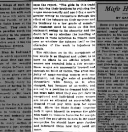 Girls' Wages, May 13, 1906, Indnpls Star, Part 2.