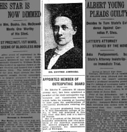 1906-12-01 Dr. Edythe Ashmore appointed member of osteopathic board