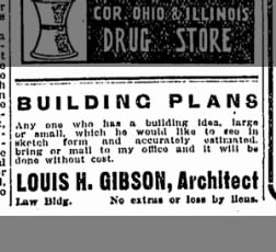 Display Ad of Louis H Gibson, offers free sketch and estimate.