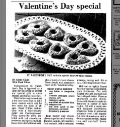 Heart O'Mine Cookies recipe from 1977